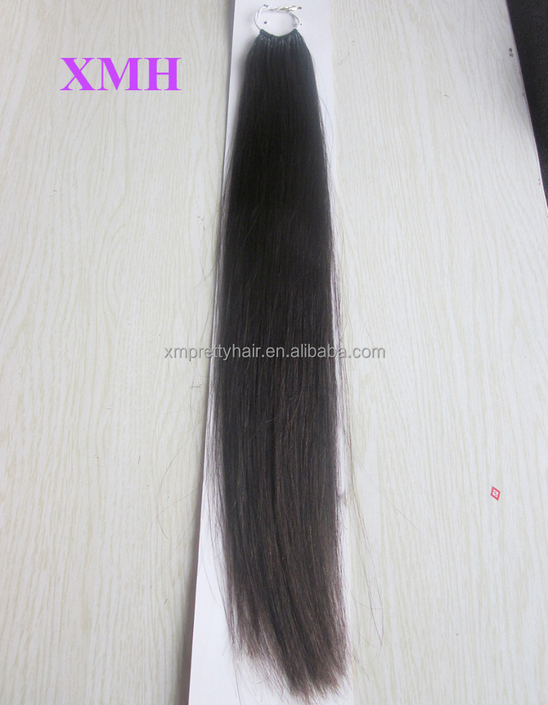 Full ends human remy cotton thread twins I-tip hair extensions