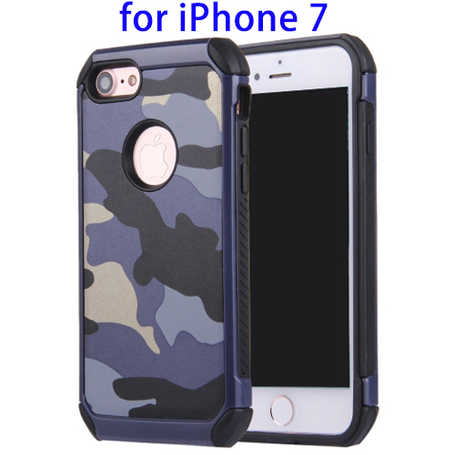 Camouflage Shock-resistant PC Combination Case for iPhone 7 Case TPU PC, Heavy Como Cover for iPhone 7