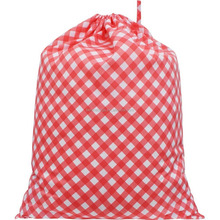 Plaid Checkered Pattern Print Pure Draw String Laundry Bag