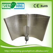Adjustable wing hydroponic aluminium light reflector