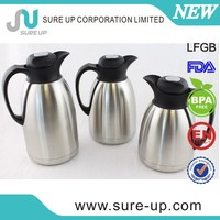 Top grade Hotel use vacuum insulated pot coffee jug flask tea server with high quality