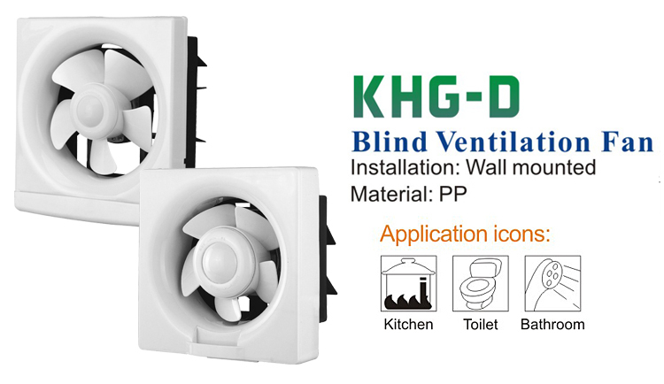 Wall-mounted Ventilation Fan with Shutter (KHG30-D)