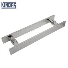 high quality stainless steel square tube glass door handle door hardware