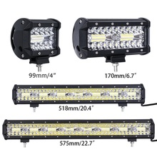 4 7 20 23 inch 3 Rows LED Bar LED Work Bar Light for Tractor Boat OffRoad 4WD 4x4 Truck SUV ATV Driving Motorcycle 12V