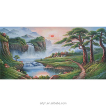 High Quality Chinese Style Sunrise Oil Painting