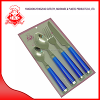 A702-4P Plastic handle flatware, Stainless steel cutlery with plastic handle