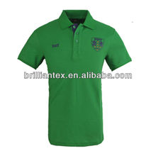 2012 latest popular word number applique embroidery short sleeve jersey mens polo shirt