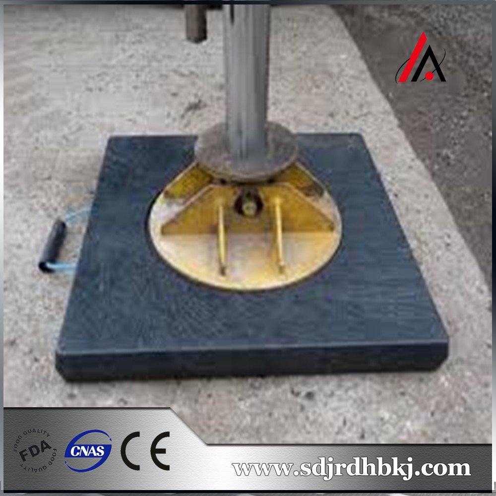 black hdpe compressive and not deformed crane dunnage pads