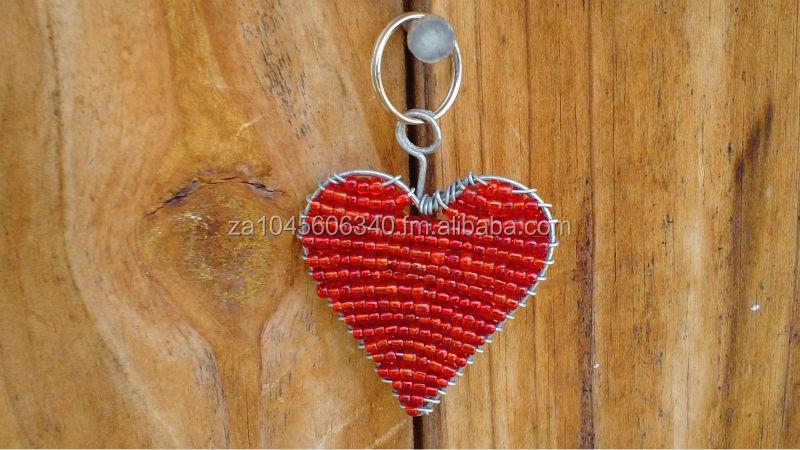Heart Wire beaded Key Chain