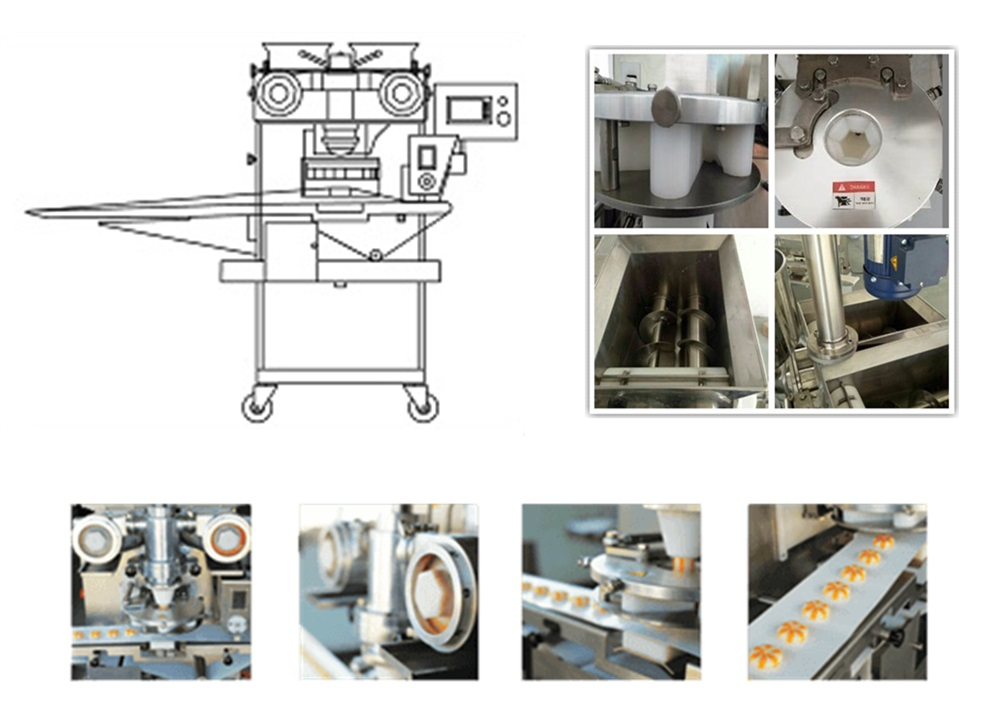2016 new products double filled encrusting making machine for cookies