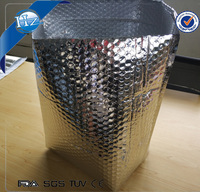 Foil bubble shipping box liner for frozen food delivery, insulated cooler grocery bags