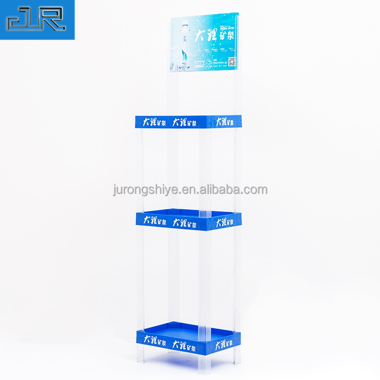 Custom Rack Water Bottle <strong>Display</strong> Stands Plastic Shelf