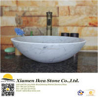 White Carerra Marble Inlay Sink