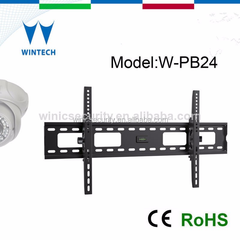 Outdoor removable tv wall mount with dvd brackets