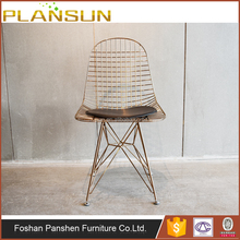 Hot sale Classic design chromed bent wire welded base DKR Wire Chair