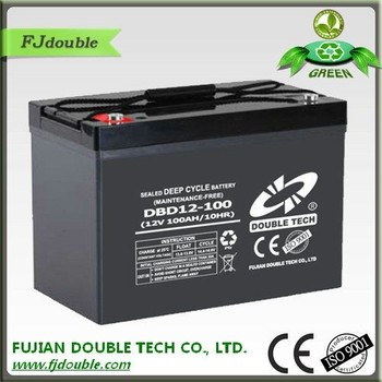 sealed maintenance free VRLA deep cycle 12volt 100ah battery