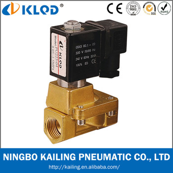 PU225-08 1 inch brass martial electric magnetic valve