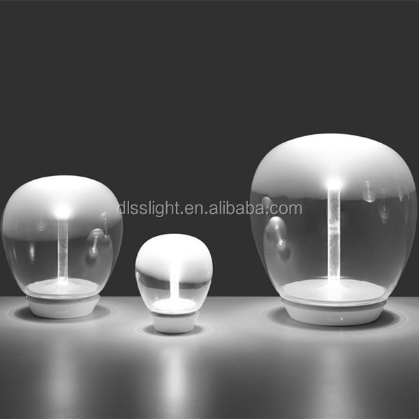 new design noble handmade neutral glass led table lamp