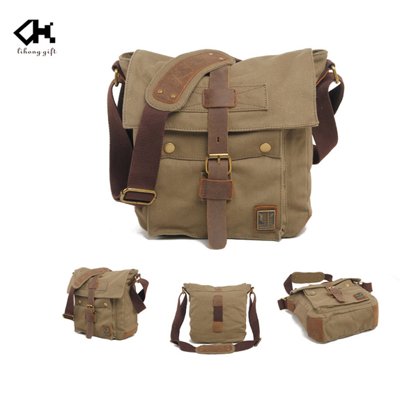 Brand casual single strap messenger bag cheap canvas shoulder bags for men