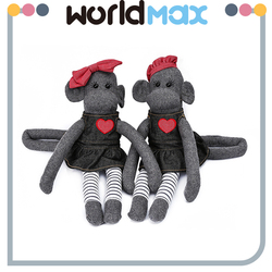 Latest Design Fashionable Gray Monkey Soft Baby Plush Toy