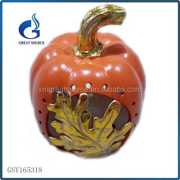 wholesale cheap ceramic light halloween pumpkins
