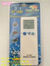 High Quality White 3+ Keys KT-1000 UNIVERSAL A/C REMOTE CONTROL Dual code 1028 IN 1