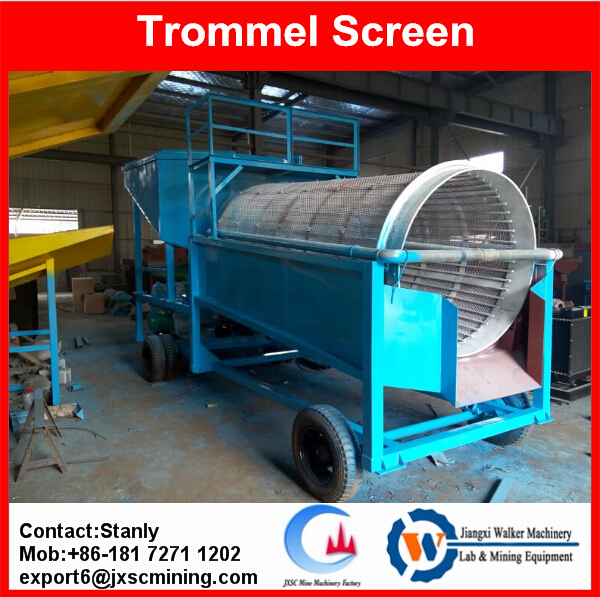 Placer Gold washing machine gold trommel screen, alluvial gold wash plant