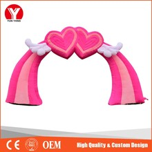 new design pink peach heart inflatable arch wedding inflatable arch
