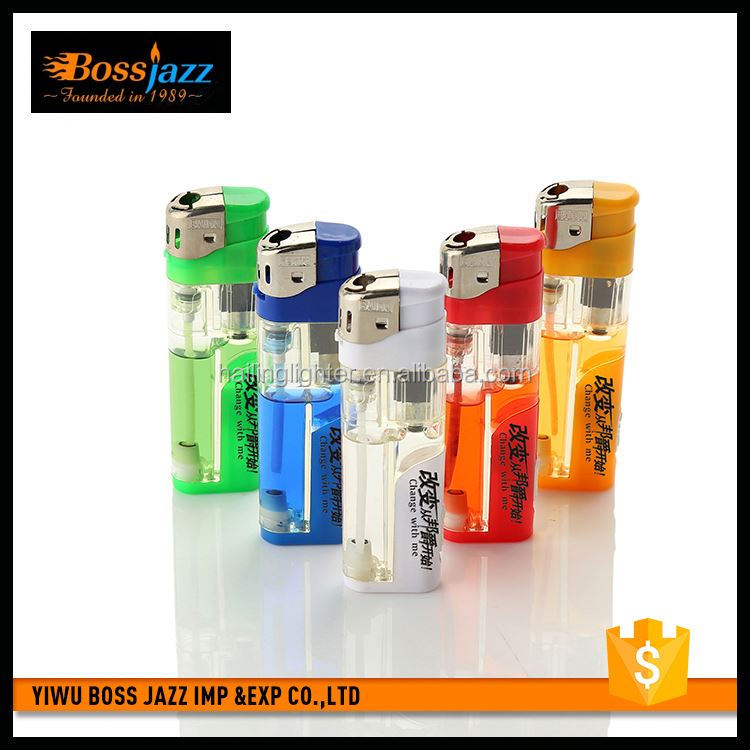 Latest arrival super quality refillable cigarette disposable lighters with lamp