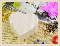 1Pcs Children Wooden Crafts Toys Wood Jewelry Box Love Heart Shape craft