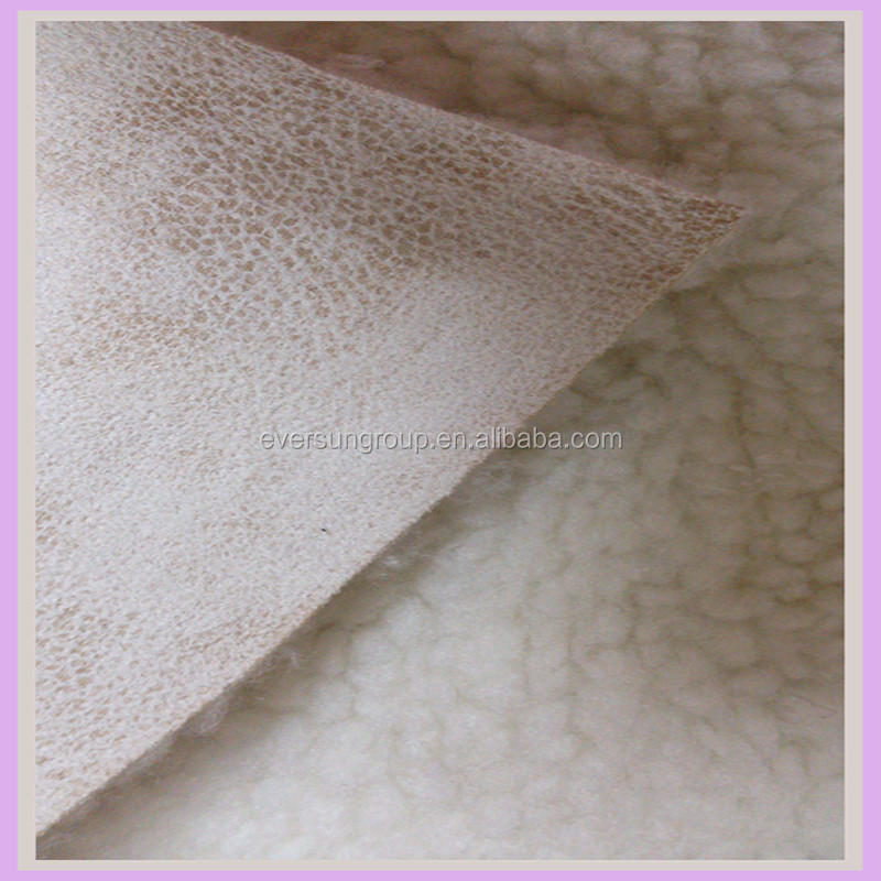 polyester lambskin style synthetic faux leather fabric for clothing