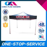 2015 Hottest Custom Print Flat Top Folding Canopy Tent