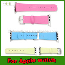 wholesale alibaba leather watchband for apple watch for 38mm