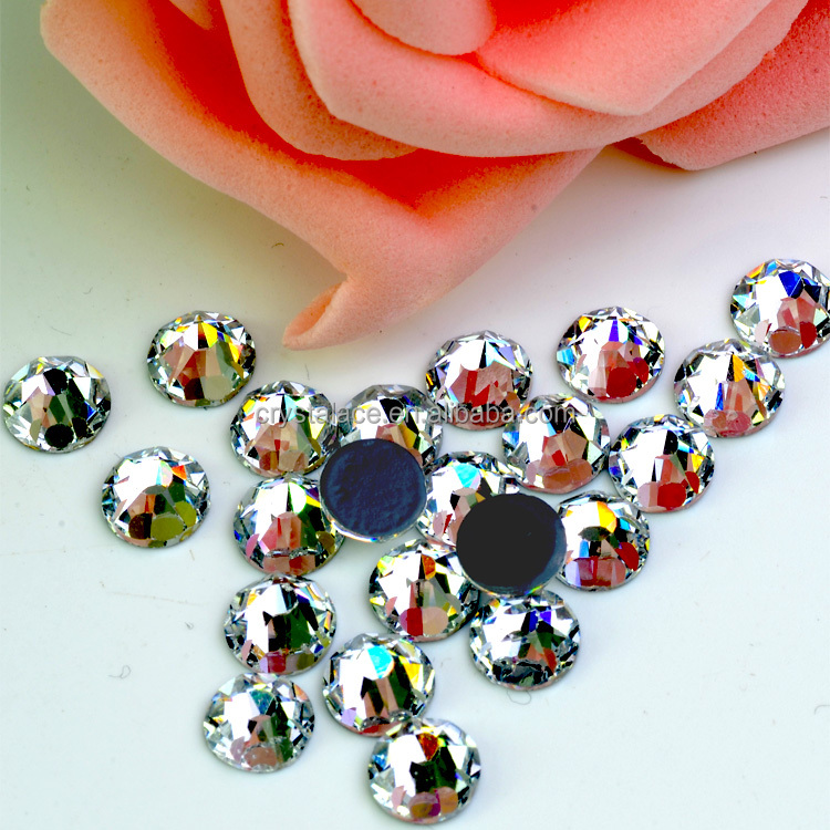 Chinese direct wholesale DMC hot fix strass ,austrian glue iron on strass bing bling crystals for cloth