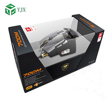 Custom Rectangle Visible Window Computer Mouse PVC Plastic Packaging Box with Plastic Tray