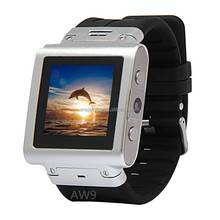 High quality 1.5 inch waterproof Bluetooth watch phone with skype&gsm by remote control for Photo Taking AW9 Smart Watch