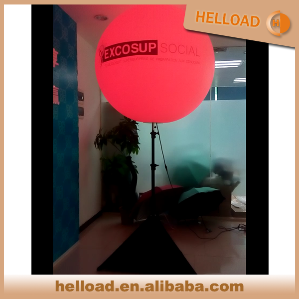 wholesale popular inflatable branding advertising and decorating tripod balloon with led