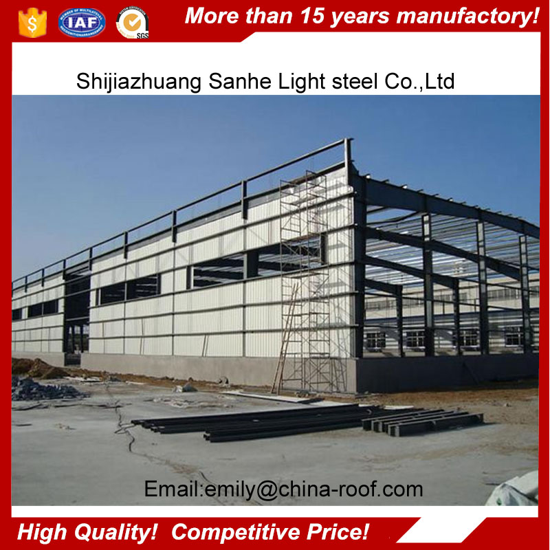 Metal frame industrial construction fabric building