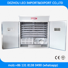 Tanzania best selling 1500 chicken eggs automatic egg incubator