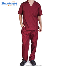 2017 Fashion Reusable Anti-bacterial Medical scrubs uniforms Hospital surgical gown