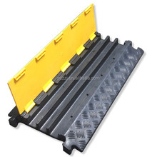 Rubber speed hump and cable ramp and wire protector and plastic cable protector and rubber road hump for events