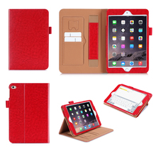 China Supplier Hot New Products With walleat Card Slots stand and flid Tablet Case For Ipad Mini 4