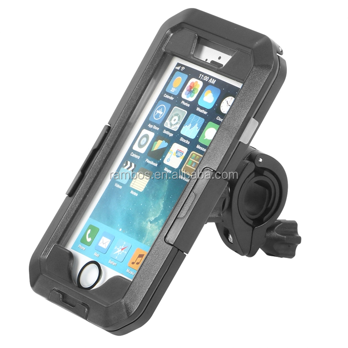 Universal Waterproof Mobile Phone Bag Case Bicycle Handlebar Mount for Ipnone 7 for Samsung Galaxy S8