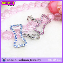 Top Sale Crystal Bone Charm, Nfl Bone Pendant Charm, Bone Charm For Neclace #14670