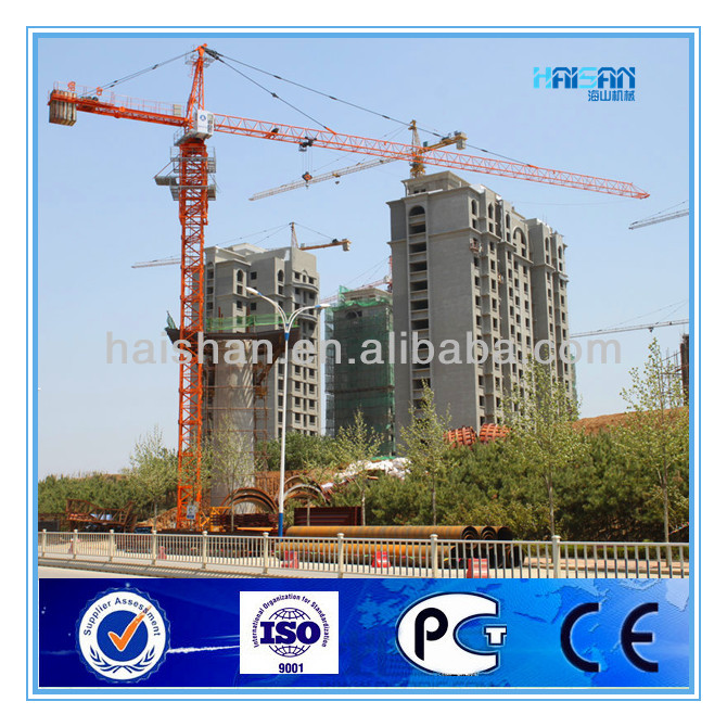 Qtz63(5510) Hydraulic Tower Crane, with ISO 9001, CE