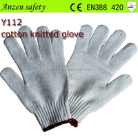 white warm cotton glove for winter made in china