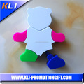 4 colors bear shape highlighter pen