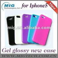 "Gel grossy case for apple iphone 5S case, for iphone 5"" case, case for iphone"
