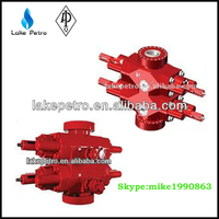 API16A annular bop/blowout preventer with blind and pipe ram for wellhead pressure
