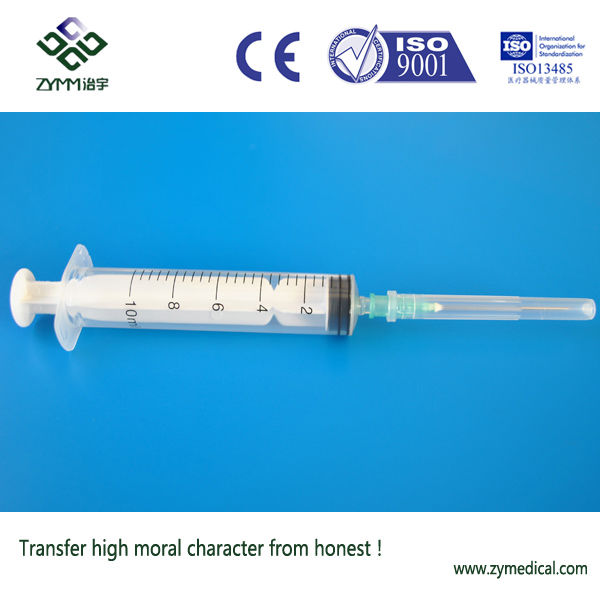 disposable syringe with needle different size
